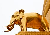 A Golden Elephant around the Buddha Relic poster