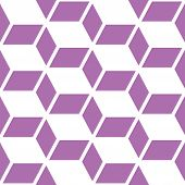 Abstract geometric seamless vector pattern, modern purple and white repetitive decoration poster
