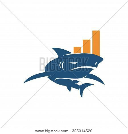 Shark Business Logo Design Vector Isolated Concept Template