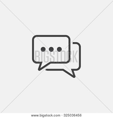Conversation Icon Design Vector, Meticulously Designed Conversation, Chat Icon Illustration, Speech