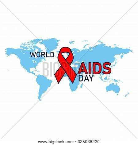 1st December. World Aids Day Concept. Aids Awareness Red Ribbon. World Aids Day Poster
