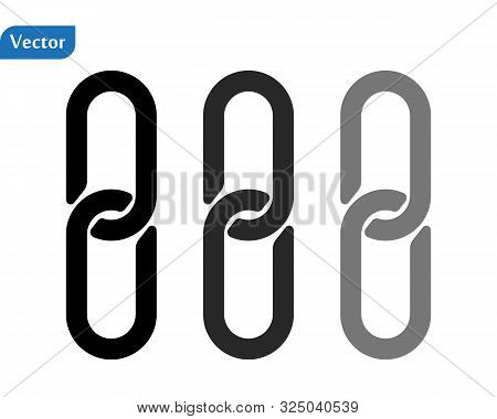 Chain, Link Icon Vector. Link Icon. Hyperlink Chain Symbol. Chain Vector Symbol. External Link Icon