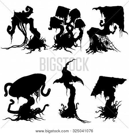 Illustration Fantasy Halloween Decorative Fable Mushroom Set