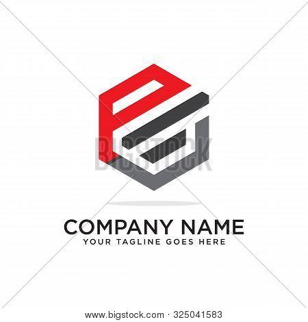 P And L Logo Design Template, Initial Logo Vector, Hexagonal Logo Inspiration