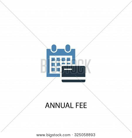 Annual Fee Concept 2 Colored Icon. Simple Blue Element Illustration. Annual Fee Concept Symbol Desig