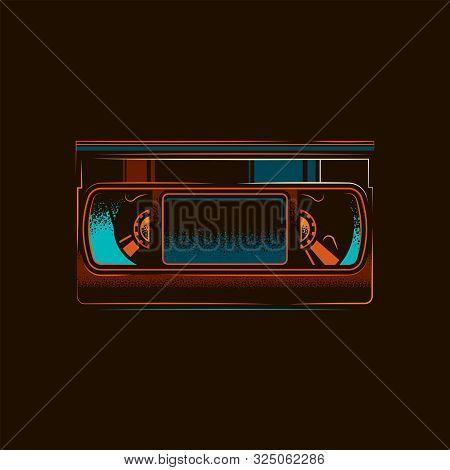 Original Vector Illustration.old Vhs Videotape In Retro Style