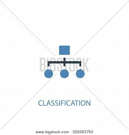 Classification Concept 2 Colored Icon. Simple Blue Element Illustration. Classification Concept Symb