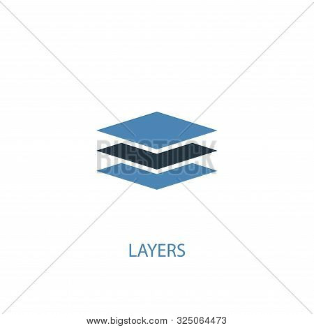 Layers Concept 2 Colored Icon. Simple Blue Element Illustration. Layers Concept Symbol Design. Can B
