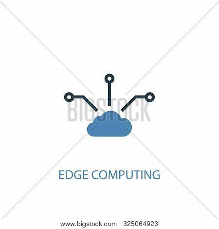 Edge Computing Concept 2 Colored Icon. Simple Blue Element Illustration. Edge Computing Concept Symb