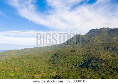 Hibok-hibok Volcano. Mountain Landscape On The Island Of Camiguin, Philippines. Volcanoes And Forest
