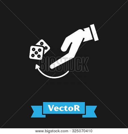 White Human Hand Throwing Game Dice Icon Isolated On Black Background Vector Illustration Poster Id 325070410 Try removing the search filter options. printmeposter com