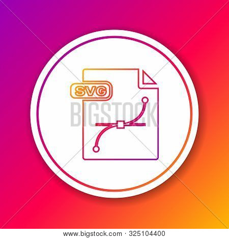 Color Line Svg File Document. Download Svg Button Icon Isolated On Color Background. Svg File Symbol