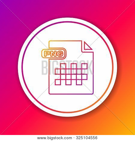 Color Line Png File Document. Download Png Button Icon Isolated On Color Background. Png File Symbol
