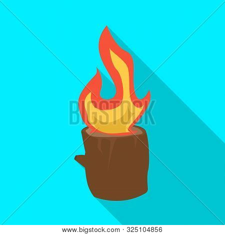 Vector Illustration Of Blaze And Fiery Symbol. Collection Of Blaze And Blazing Vector Icon For Stock