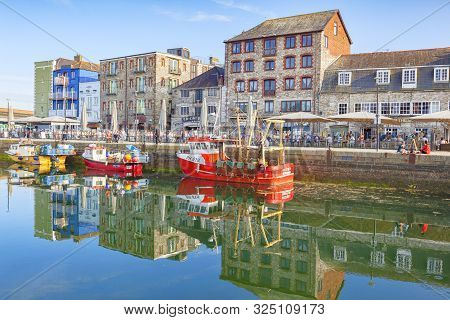 9 June 2018: Plymouth, Devon, Uk - Plymouth Barbican And Sutton Pool.