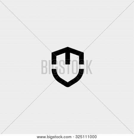 Initial T M Shield Logo Template Vector Design