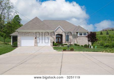 Light Brick Suburban Home