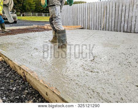 Concrete Pouring For The Basement Of A Building- Concrete Slab