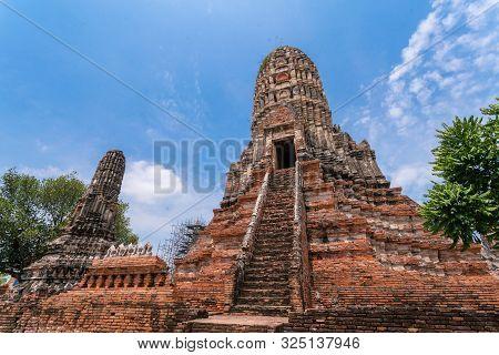 Old Temple Wat Chaiwattanaram In Ayutthaya, Thailand Grand Palace. Ayutthaya Thailand. Ayutthaya Fam