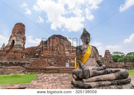 Old Temple Wat Ma Ha That In Ayutthaya, Thailand Grand Palace. Ayutthaya Thailand. Ayutthaya Famous