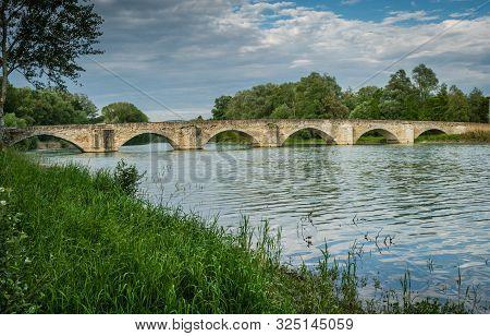 The Buriano Bridge Over The Arno River In Italy