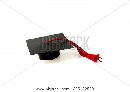 A Graduation Cap On White Background Isolate