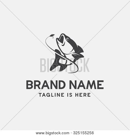 Unique Fishing Logo Template, Memorable Fishing Logo Icon. Fishing Vector Graphic Illustration