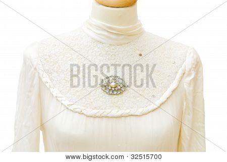 Bride Dress Detail - Genuine 1930