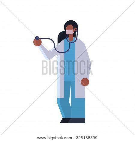 Female Doctor Cardiologist Examining Patient With Stethoscope Medicine Healthcare Concept Hospital M
