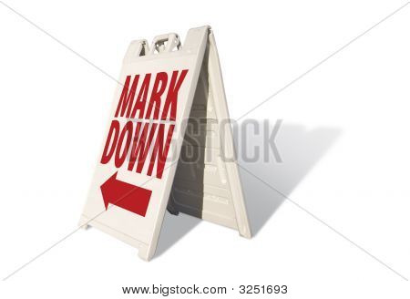 Mark Down - Tent Sign