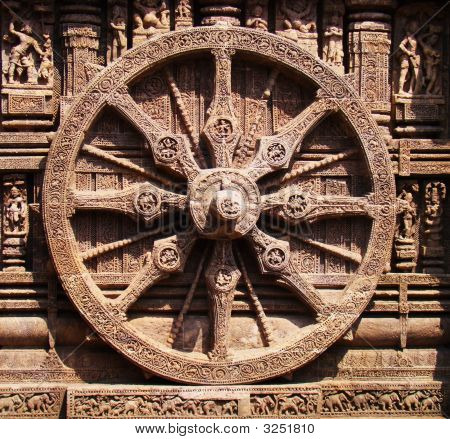 The Ashoka Chakra is a depiction of the Dharmachakra the Wheel of Dharma (Sanskrit: Chakra means wheel) poster