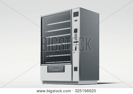 Modern Vending Machine Isolated On White Background. 3d Rendering.