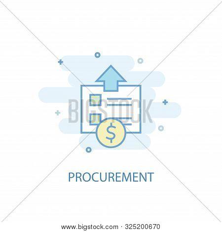 Procurement Line Concept. Simple Line Icon, Colored Illustration. Procurement Symbol Flat Design. Ca