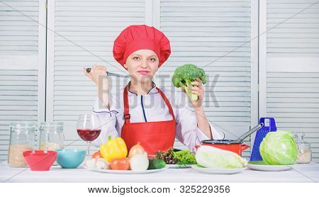Turn Broccoli Into Favorite Ingredient. Broccoli Nutrition Value. Raw Food Diet. Woman Professional