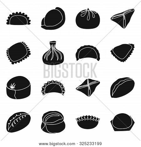 Vector Design Of Cuisine And Appetizer Symbol. Set Of Cuisine And Food Stock Symbol For Web.