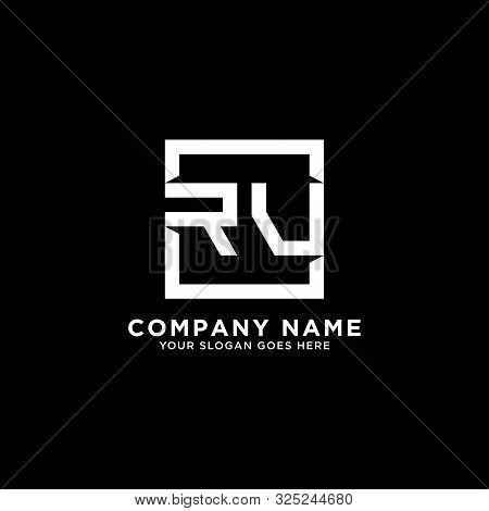 R And V Initial Logo Inspirations, Square Logo Template, Clean And Clever Logo Vector