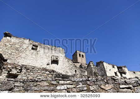 Ruins of Esco in Spain