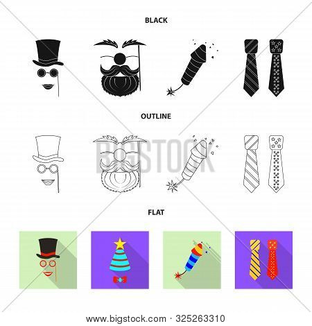 Vector Design Of Party And Birthday Sign. Collection Of Party And Celebration Stock Vector Illustrat