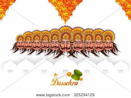 Ravana In Happy Navratri Dussehra Festival Of India