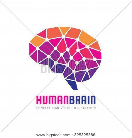 Creative Idea - Business Vector Logo Template Concept Illustration. Abstract Human Brain Creative Si