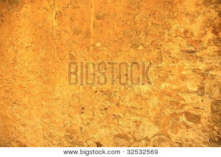 Orange Rustic Stone Wall