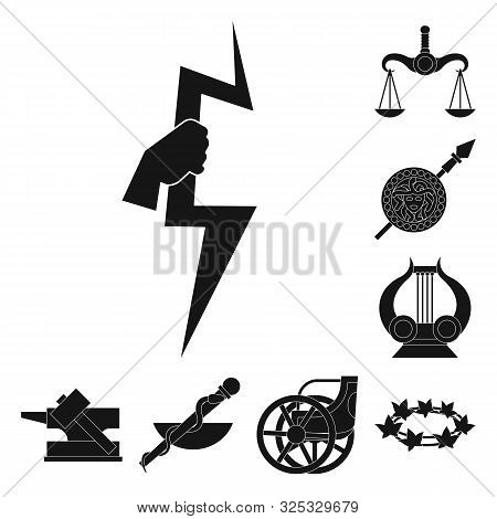 Isolated Object Of Religion And Myths Symbol. Collection Of Religion And Greek Vector Icon For Stock