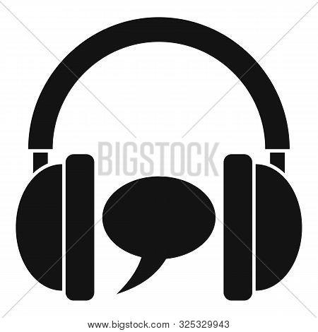 Audio Headset Education Icon. Simple Illustration Of Audio Headset Education Vector Icon For Web Des