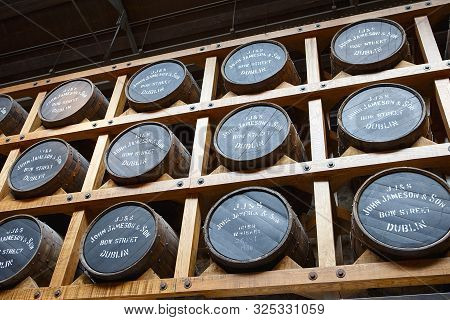 Jameson Distillery Is One Of The Famous Irish Whiskey Producers. Irish Whiskey Museum In Dublin