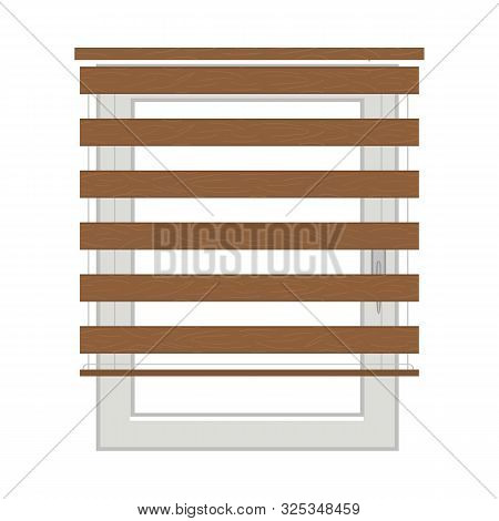 Vector Illustration Of Jalousie And Roll Symbol. Graphic Of Jalousie And Wooden Vector Icon For Stoc