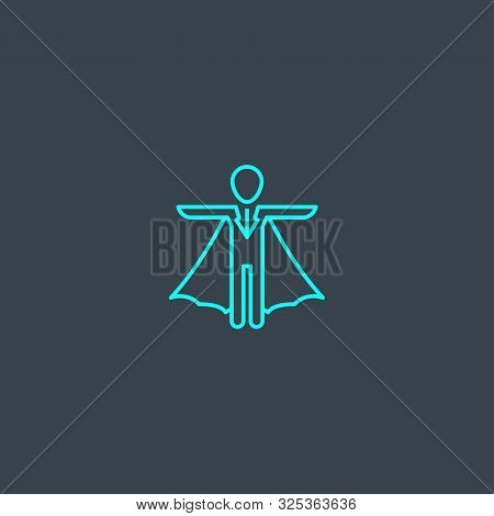 Reliance Concept Blue Line Icon. Simple Thin Element On Dark Background. Reliance Concept Outline Sy