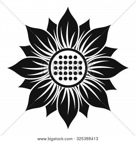 Helianthus Icon. Simple Illustration Of Helianthus Vector Icon For Web Design Isolated On White Back