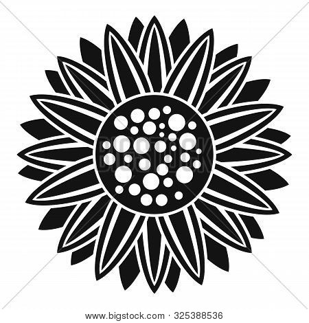 Helianthus Plant Icon. Simple Illustration Of Helianthus Plant Vector Icon For Web Design Isolated O