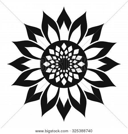 Helianthus Flower Icon. Simple Illustration Of Helianthus Flower Vector Icon For Web Design Isolated