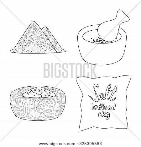 Isolated Object Of Sodium And Mineral Symbol. Collection Of Sodium And Kitchen Stock Symbol For Web.